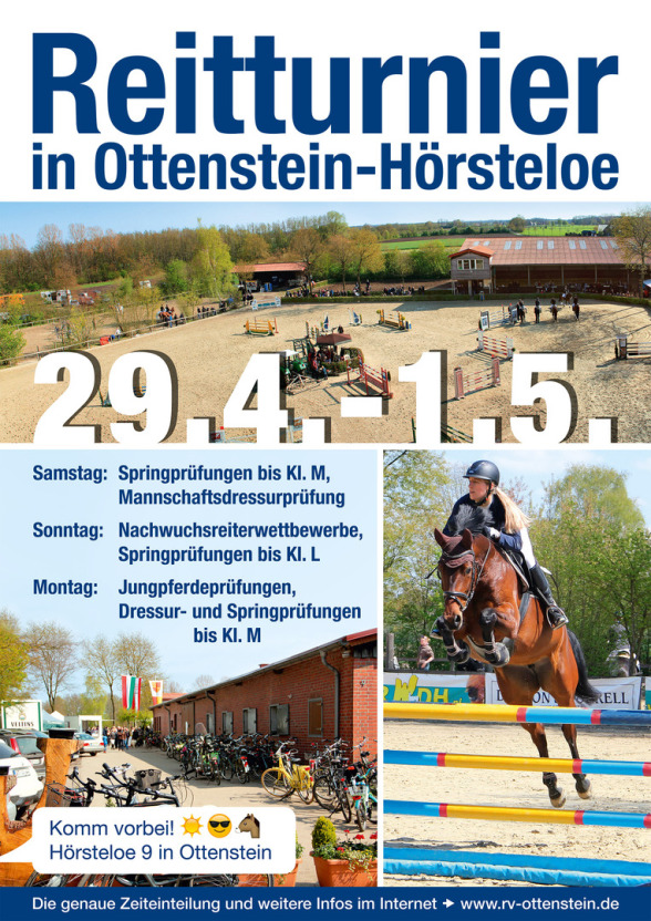 Reitturnier in Ottenstein Hörsteloe April 2017